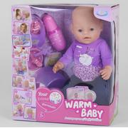 Пупс Warm Baby 40 см функциональный интерактивный кукла большая игрушка для девочки с аксессуарами (52144)
