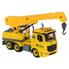 Автокран-конструктор детский со стрелой Diy Assembly со звуками и светом маячков 30 см Желтый (r95887)