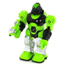 Робот игрушка Jia Yu Toy Thunderbolt ходит со светом и звуком 25 см Зеленый (4189833)