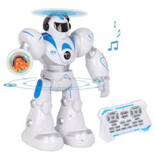 Робот на дистанционном управлении Lezo Robot Aerla 35 см ходит стреляет танцует 28 функций Белый/Синий (1797589)