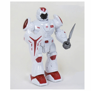 Робот игрушка интерактивный Play Smart Робовоин Страж движение вперед с подсветкой и звуками 28 см Белый (68609)