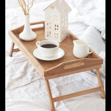 Cтолик поднос для завтрака в постели Supretto Home бамбуковый 50х30см Коричневый