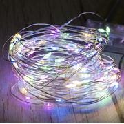 Гирлянда-нить проволока Капли Росы City 10 м 100 led светодиодная на батарейках Разноцветная (52198)