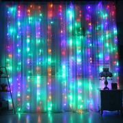 Гирлянда штора водопад на окно City 3х2 м 336 led светодиодная 8 режимов Разноцветная (52197)