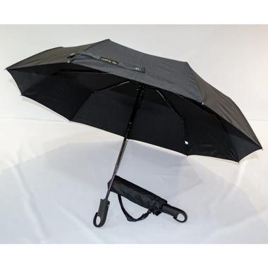 Зонт полный автомат складной Три слона женский-мужской 9 спиц Черный (48503)