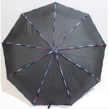 Зонт женский автомат Banders ba02076 складной 9 спиц Черный