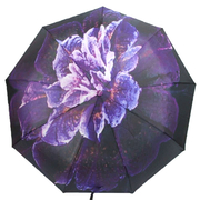 Зонт женский автомат Flagman складной 9 спиц купол 100 см с цветочным принтом в коробке Фиолетовый (9499178)