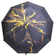 Зонт автомат женский Flagman складной 9 спиц купол 100 см в подарочной коробке Черно-желтый (1003752)