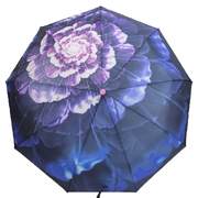 Женский зонт автомат Flagman складной 9 спиц купол 100 см цветочный принт в подарочной коробке (8926465)