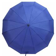 Зонт 12 спиц женский Flagman автомат складной купол 105 см прямая ручка Синий (2408026)
