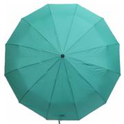 Зонт 12 спиц женский Flagman автомат складной купол 105 см прямая ручка Бирюзовый (3537107)