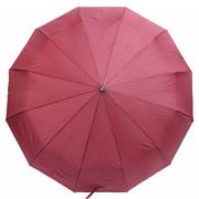 Зонт 12 спиц женский Flagman автомат складной купол 105 см прямая ручка Бордовый (6963046)