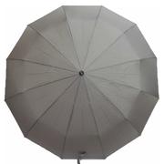 Зонт 12 спиц женский Flagman автомат складной купол 105 см прямая ручка Серый (2850353)