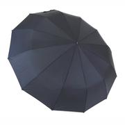 Зонт 12 спиц автомат складной Flagman мужской купол 105 см прямая ручка Черный (289059)