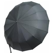 Зонт автомат Flagman 16 спиц антиветер складной мужской купол 105 см Черный (7395647)