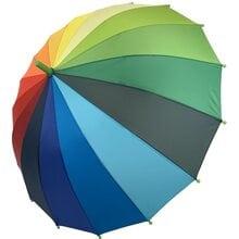 Детский зонт трость полуавтомат Flagman ftpa50С1 Радуга 16 спиц для мальчика и девочки Радужный