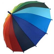 Детский зонт трость полуавтомат Flagman ftpa50С2 Радуга 16 спиц для мальчика и девочки Радужный
