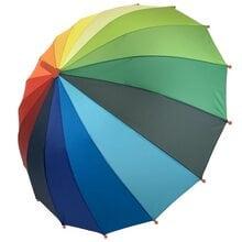 Детский зонт трость полуавтомат Flagman ftpa50С3 Радуга 16 спиц для мальчика и девочки Радужный