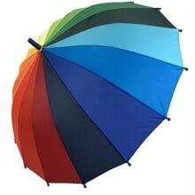 Детский зонт трость полуавтомат Flagman ftpa50С4 Радуга 16 спиц для мальчика и девочки Радужный