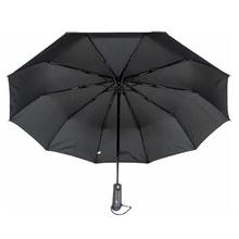 Зонт автомат мужской Flagman Umbrella faN0527 10 спиц антиветер складной 101 см Черный