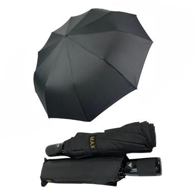 Зонт полуавтомат мужской Max mpaN0270 10 спиц антиветер складной 102 см Черный